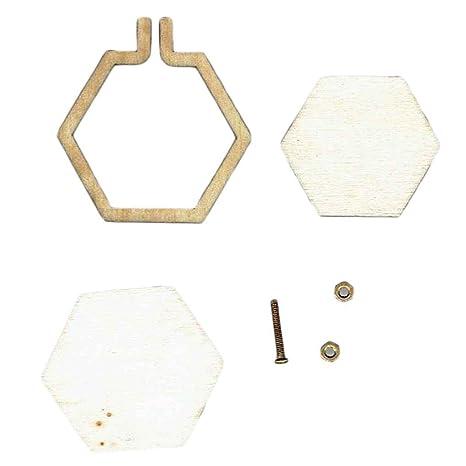 3 piezas Conjunto de Marco de aro de Plástico Rectangular Bordado Cuadrado Blanco punto de cruz