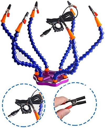 zreal soporte multifunci/ón tercera mano secourable estaci/ón de soldadura con 6/brazo de montaje flexibles