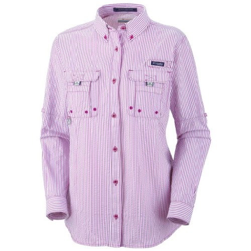 0f0353073a4 Columbia Women's Super Bahama Long Sleeve Shirt, Small, Intense Violet/ Seersucker - Buy Online in Oman.   Apparel Products in Oman - See Prices,  ...