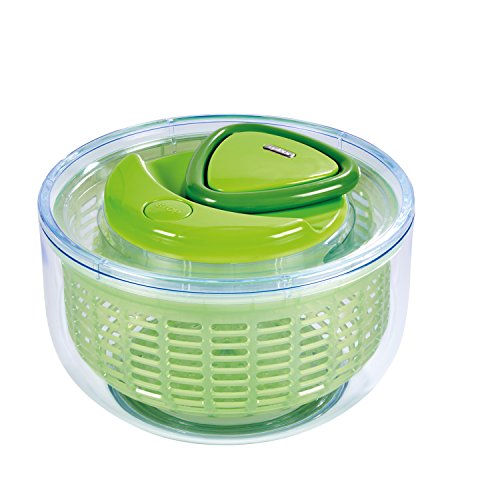 Small Salad Spinner (ZYLISS Easy Spin Salad Spinner, Small, Green, BPA Free)