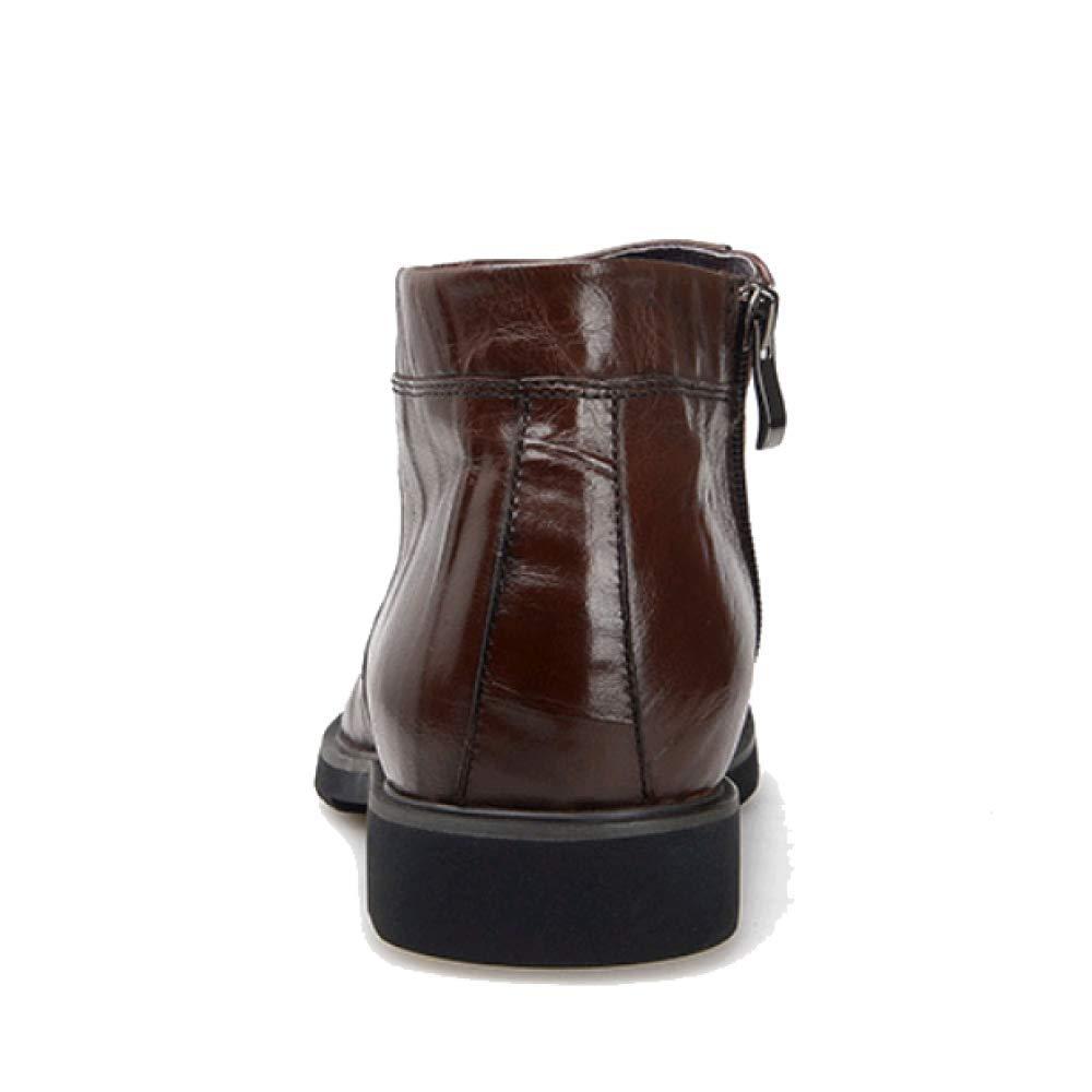 ZQZQ Mode Herren Lässig Warme Atmungsaktive Tragbare Herren Mode Stiefel schwarz 565709