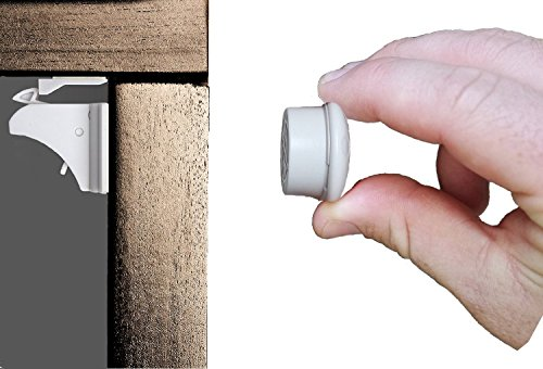 Magnetic Safety Locks for Cabinets, Drawers, and Cupboards. Child and Baby Proof Your Kitchen and Bathroom in 5 minutes. Simple Installation With No Tools or Drilling Required (Automatic Locking Door Knob compare prices)