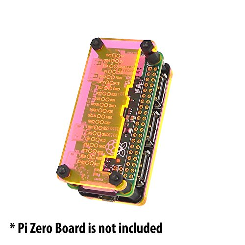 MakerSpot Raspberry Pi Zero Protector for 4-Port Stackable USB Hub HAT - Orange