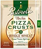Pastorelli Ultra Thin and Crispy Pizza Crusts 100% Whole Wheat, 3 Count (Pack of 10)