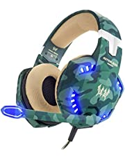 VersionTECH. Casque Gaming PS4 Pro Militaire Audio Anti-Bruit Filaire avec Micro, LED et Contrôle de Volume pour PC, Playstation 4, Xbox One, Macbook Pro, Macbook Air, Ordianteur – Camouflage