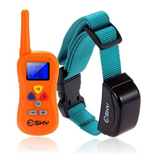 Esky Dog Training Collar Waterproof 330 Yard LCD Backlight Remote Control Dog Training Shock Collar
