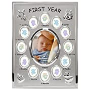 Hallmark Collectible Photo Frame (Baby's 1st Year Metal, 8x10)