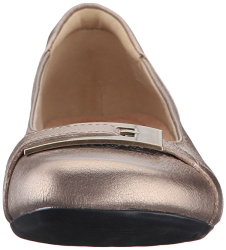 CLARKS Damen Blanche West Flat Gold / Metallisches Leder