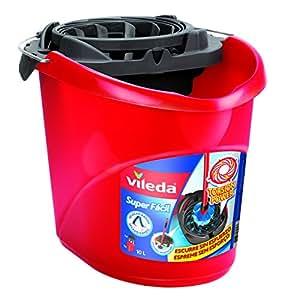 Vileda - Cubo Superfácil Torsion Power, color rojo