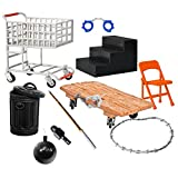10 Piece HARDCORE Accessory Set for WWE Wrestling Action Figures