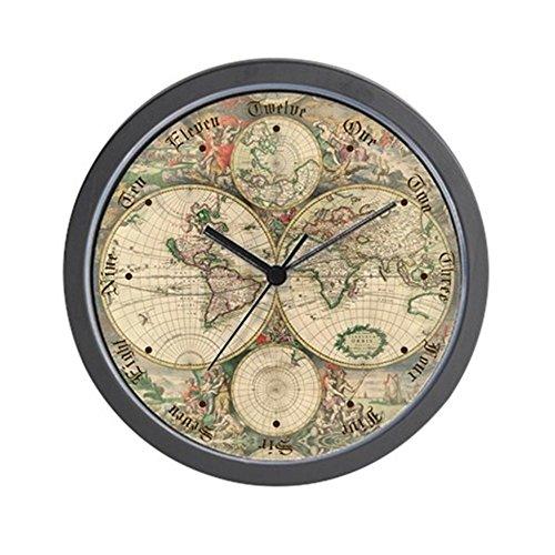 World clocks amazon cafepress 1689 world map wall clock unique decorative 10 wall clock gumiabroncs Image collections