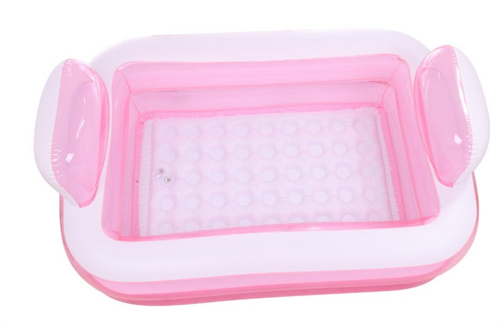60cm 3 Kg Inflatable Bathtub / Adult Bath Barrels Childrens Baths Folding Tub Blue Pink 152 108 Color : #2