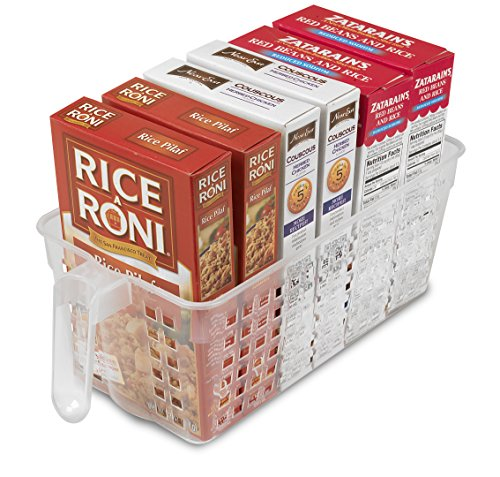 Perfect Pantry Handy Basket for Yogurt, Rice Box and Coffee Bricks, Clear