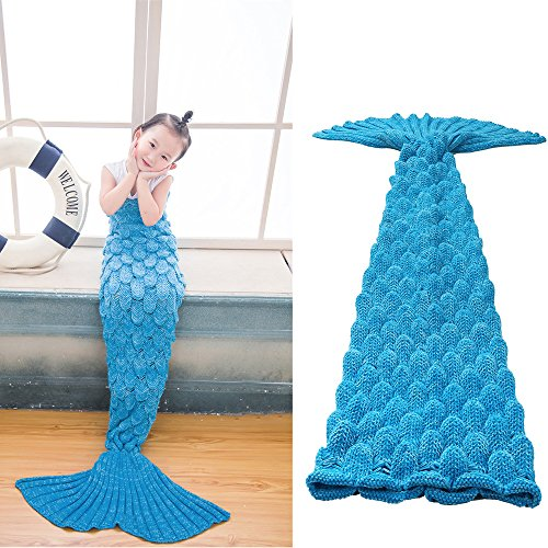 EagleUS Crocheted Mermaid Conditioning Blanket