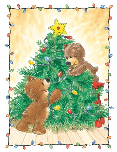 (Suzy's Note Card Collection Stationery, Christmas Tree Bears - 10893)
