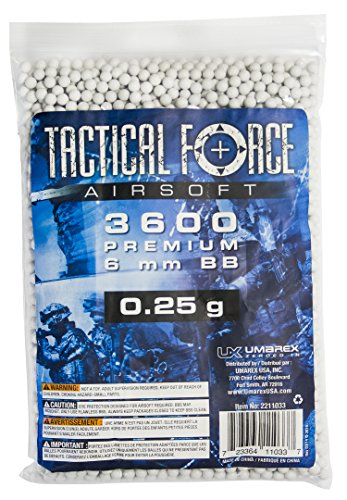 Tactical Force Premium Airsoft BB, 0.25g/6mm Airsoft (Umarex Airsoft 6mm Bbs)