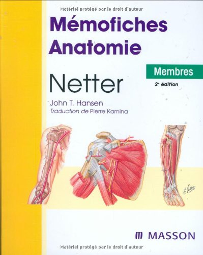 Mémofiches Anatomie Netter : Membres by (Mass Market Paperback)