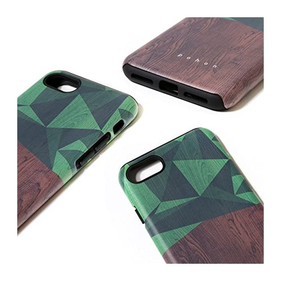 SKINU iPhone 7 Case, Designer Pattern [Shockproof 2 in 1 Hybrid] Rugged [Heavy Duty Combo] [Dual Layer] High Impact… 3 Easy snap-on form-fitted slim and light weight hybrid fashion case Large cutouts fit most cables while protecting the phone and camera Two-part construction of shock-absorbing TPU and durable hard polycarbonate