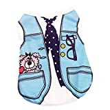 Ennc Pet Apparel Small Dog Cat Clothes Sleeveless Braces Printed T-shirt Vest Puppy Costumes Spring Summer Cotton Shirts for dogs cats, Medium