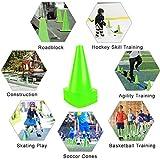 9 Inch Plastic Training Traffic Cones, 12 Pack