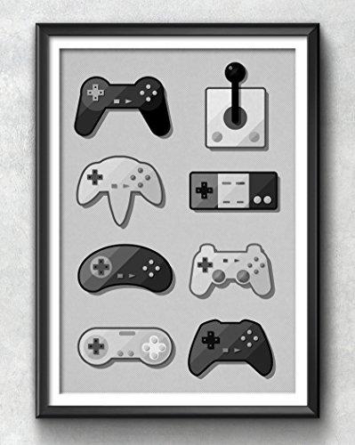 Game Pad Print, Gaming Poster, Gaming Art, Gaming Wall Art, Gaming Print, Gaming Illustration,