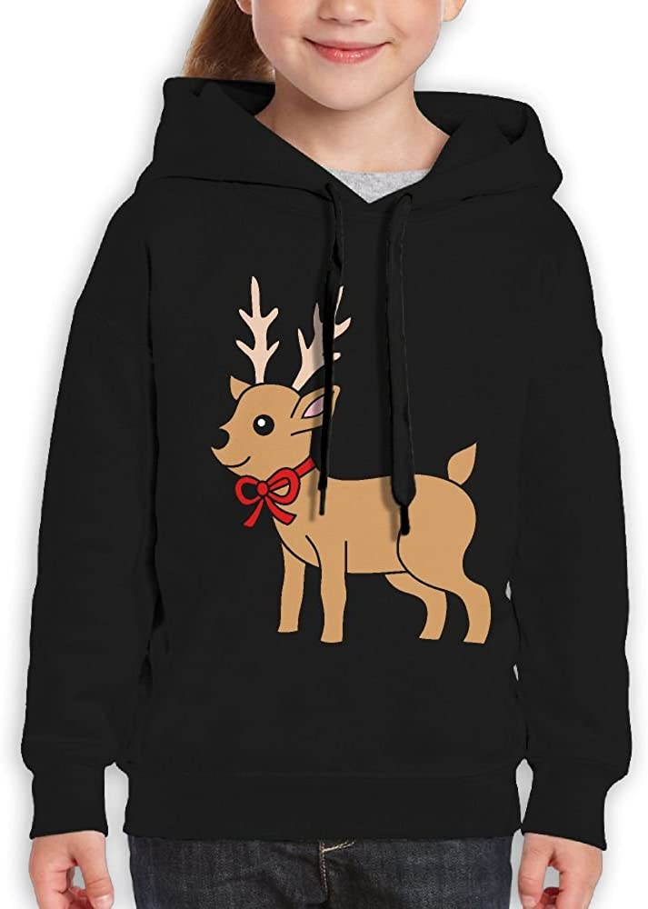 DTMN7 Reindeer Funniest Printed 100/% Cotton Pullover For Girl Spring Autumn Winter