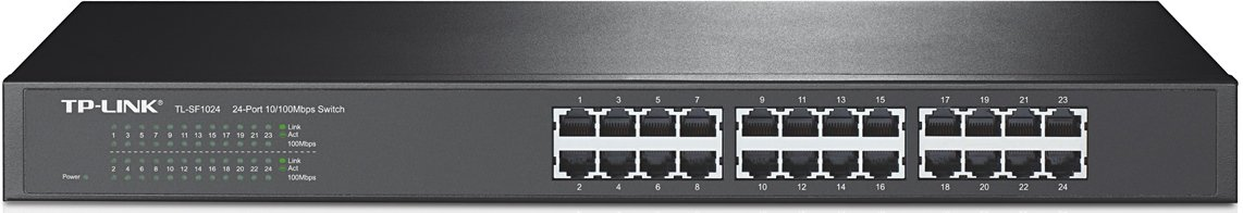 TP-Link 24-Port Fast Ethernet Unmanaged Switch | Plug and Play | Rackmount | Metal | Fanless | Limited Lifetime (TL-SF1024) by TP-Link