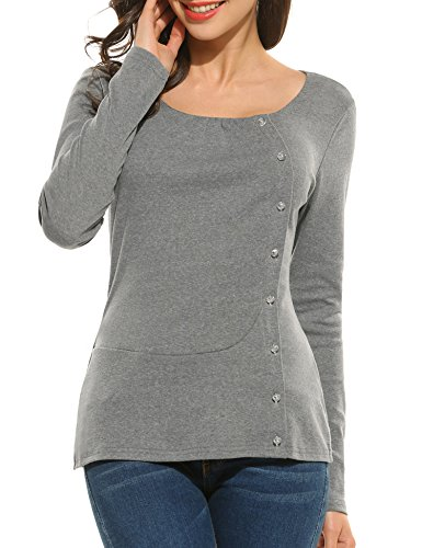 ANGVNS Sleeve Fitted Cotton Blouse