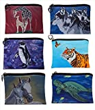 Change Purse, Vegan Coin Purse - Animals - From My Original Paintings - Support Wildlife Conservation, Read How (Animals)