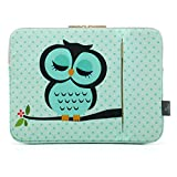 CoolBell 12.9 Inch iPad Pro Sleeve Case Surface Pro 4 Cover With Cute Owl Pattern Fabric Sleeve Canvas Bag Exclusive For iPad Pro / Surface Pro 4 / 12'' New Macbook / Men / Women / Girls