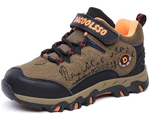 DADAWEN Kid's Waterproof Outdoor Fur Lining Hiking Athletic Running Sneakers (Toddler/Little Kid/Big Kid)