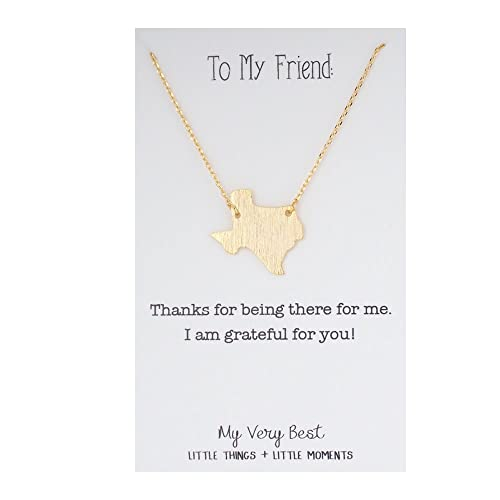 Amazon my very best texas pendant necklace gold plated brass amazon my very best texas pendant necklace gold plated brass jewelry mozeypictures Choice Image