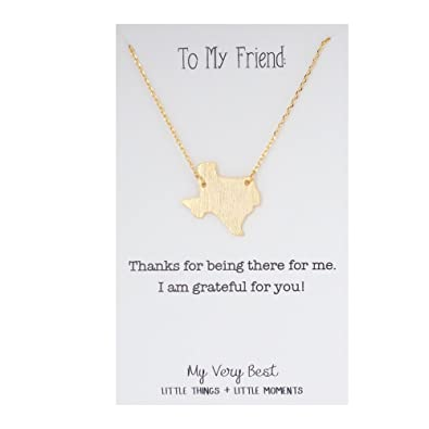 Amazon my very best texas pendant necklace gold plated brass my very best texas pendant necklace gold plated brass mozeypictures Images