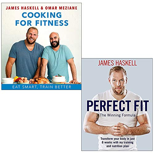 James haskell collection 2 books set (cooking for fitness [hardcover], perfect fit)