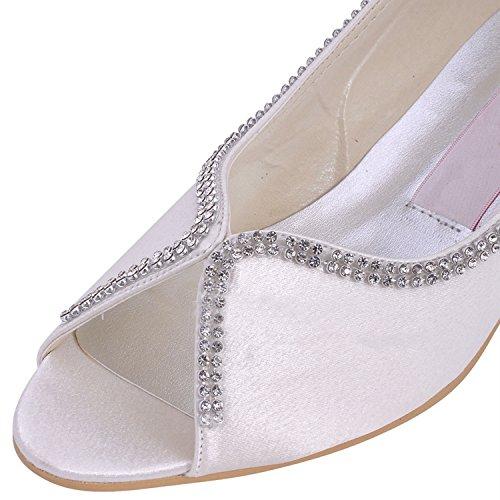 Heel Hochzeitsschuhe Damen Modische 5cm Ivory Minitoo Wv7YBCqBn