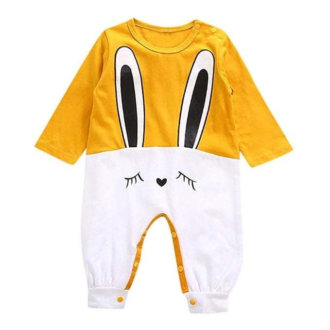 K-youth Ropa Bebé Peleles Bebe Niña Invierno Conejo de Dibujos Animados Bodies Recien Nacido Manga Larga Bebé Niño Niña Mameluco Infantil Mono Body para ...