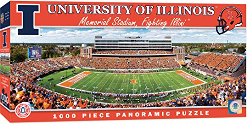MasterPieces Collegiate Illinois Fighting Illini 1000 Piece Stadium Panoramic Jigsaw Puzzle