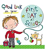 Rachel Ellen Boys Good Luck First Day School Card