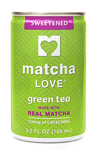 Matcha Love Green Tea, Sweetened, 5.2 Ounce (Pack of 20), Cane Sugar Sweetened, 50 Calories, No Artificial Sweeteners, Caffeinated, Good Source of Vitamin (Love Drinks)