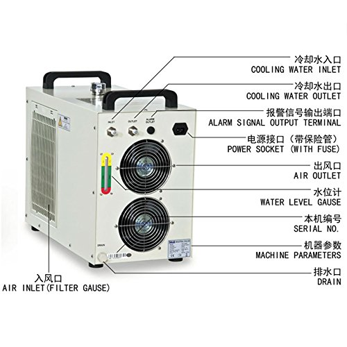 Industrial Water Chiller Cool 5KW Spindle Welding Equipment CW-5000DH 110V 60Hz by TEYU (Image #2)