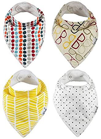 Baby Bandana Bibs by ZELDA MATILDA Extra Long Absorbent Adjustable Bib Made  of Organic Cotton and 767e20a47
