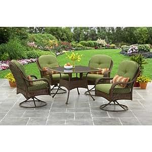 Better Homes And Gardens Azalea Ridge 5 Piece Outdoor Dining Set Green Garden