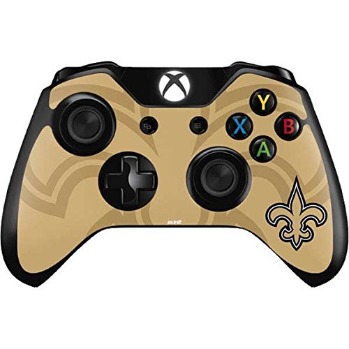 Controller Saints Orleans New (Skinit New Orleans Saints Double Vision Xbox One Controller Skin - Officially Licensed NFL Gaming Decal - Ultra Thin, Lightweight Vinyl Decal Protection)