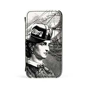 1860's Lady 2 Premium Faux PU Leather Case, Protective Hard Cover Flip Case for Apple? iPhone 4 / 4s by Gangtoyz + FREE Crystal Clear Screen Protector