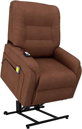 vidaXL Fauteuil inclinable de Massage TV électrique Marron