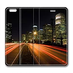 Night Scene Design High Quality Leather Iphone 6 Case Road wangjiang maoyi