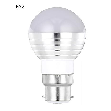 Zanteca - Bombilla LED E27 de 3 W RGBW, mando a distancia, cambio de
