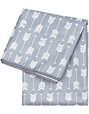 Bumkins Splat Mat, Waterproof, Washable for Floor or Table, Under Highchairs, Art, Crafts, Playtime – Gray Chevron