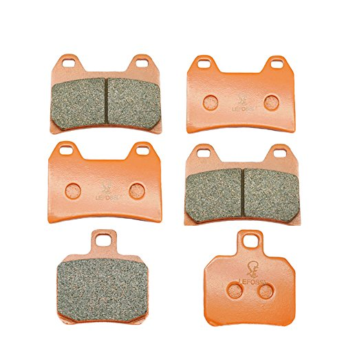 Lefossi Front Rear Carbon Fiber Brake Pads Brakes for Ducati 696 08-15 796 Monster 10-15 848 Streetfighter 12-15 1100 Monster 09-12 1200 Supersport Multistrada FA244F FA266R