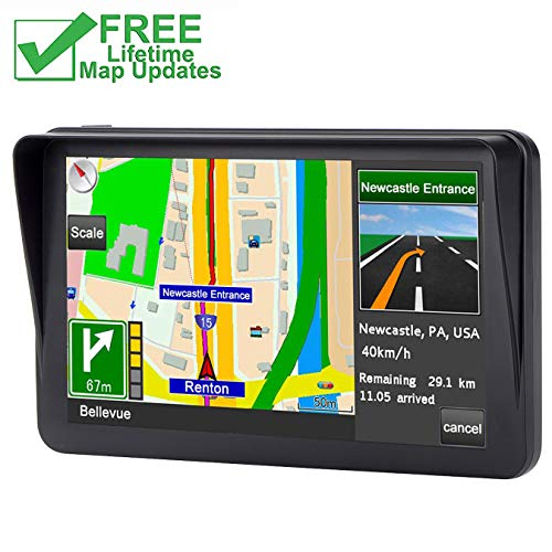 7 inch 8GB Navigator System, GPS Navigation for Car, Car GPS Spoken Turn- to-Turn Traffic Alert Vehicle GPS Navigator, Lifetime Map Updates